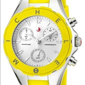 Like New: Michele Tahitian Yellow Jelly Bean watch